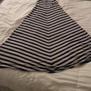 Forever 21 Striped Maxi Skirt